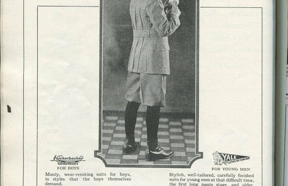 1924 mens and boys clothing ads: Knickerbockers, hats, trousers and more!