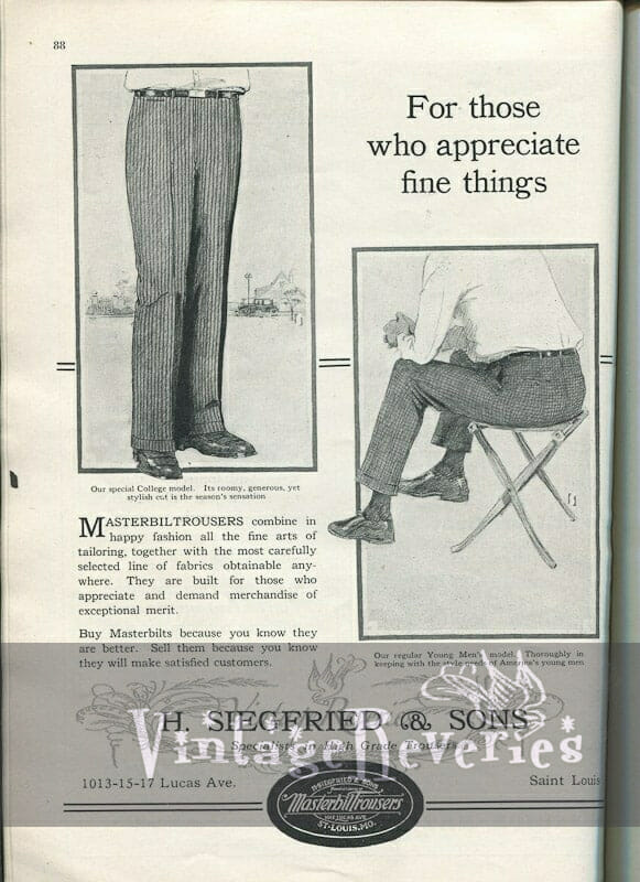 wholesaler fashion ad st louis 1920s