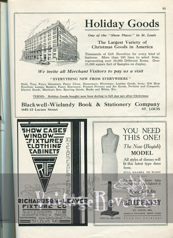 1920s dress form advertisement