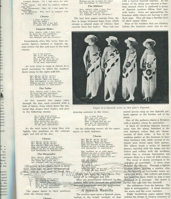 The Entertainment Features of the St. Louis Fashion Pageant (1924)