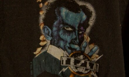 "Tesla 1992 Psychotic Supper Tour Tshirt – ""Local Psychotic"" RARE crew tshirt"
