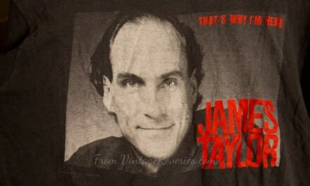 James Taylor That's Why I'm Here 1986 tour tshirt