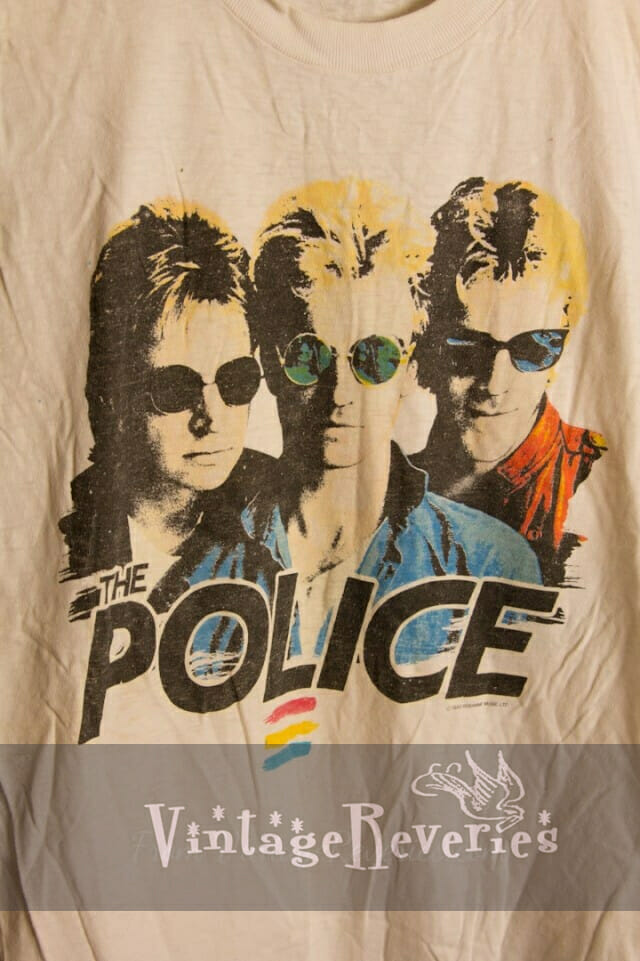 Rare Vintage The Police 1983 Synchronicity Tour sleeveless muscle tshirt
