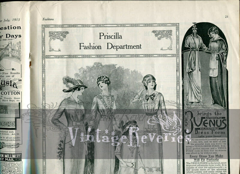 early 1900s fashion plate