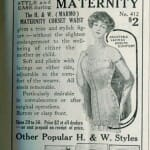 maternity corset illustration advertisement 1914