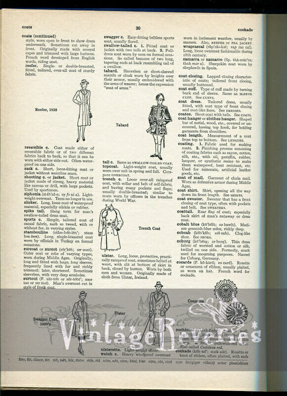 coat fashions thru the ages