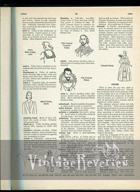 old dictionary pages