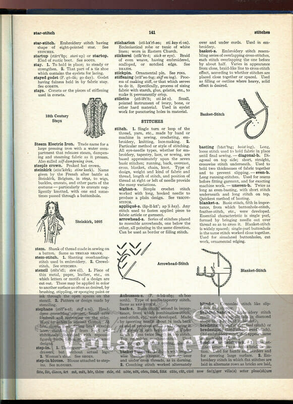 types of dressmaking needlework