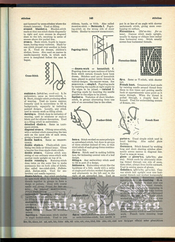 describing vintage needlework