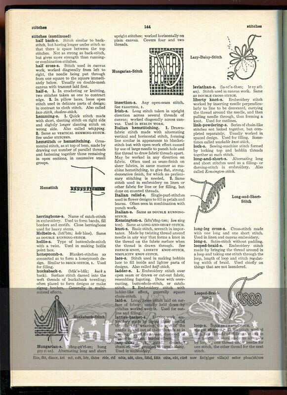 needlework identification
