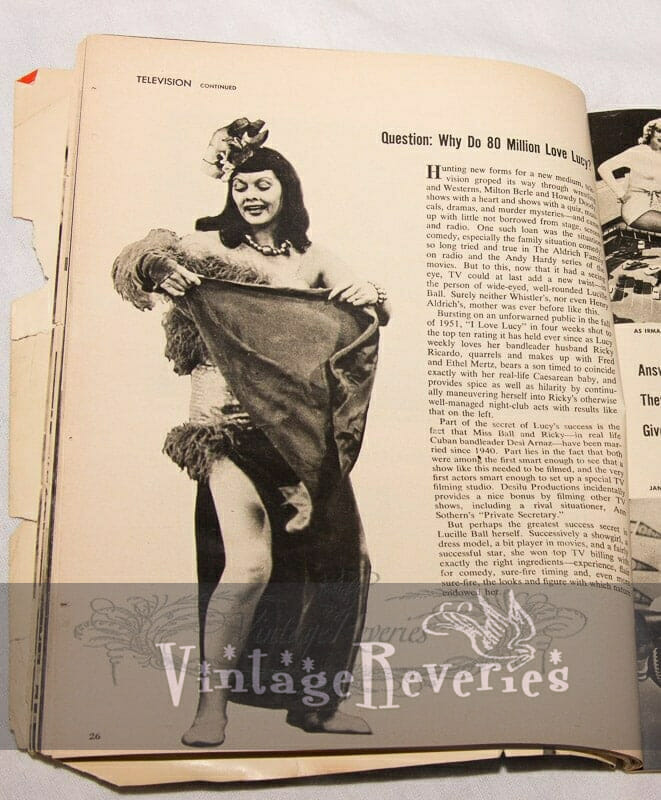 Lucille Ball and Marie Wilson as Successful Pinups on TV
