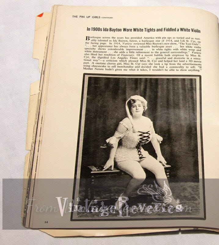 picture of Ida Bayton 1914 burlesque performer