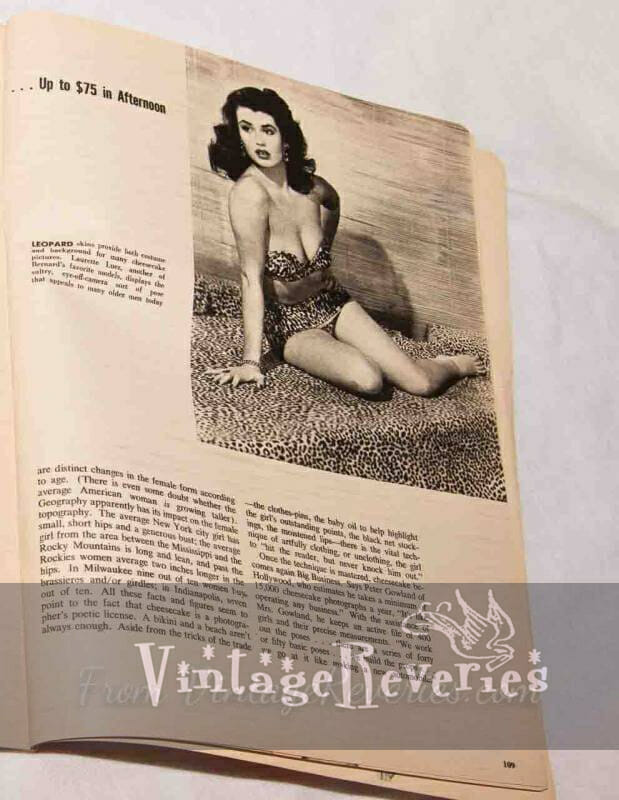 pinup modeling rates in the 1950s