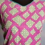 Large bright psychedelic square summer dress, could also be used as a swimsuit coverup
