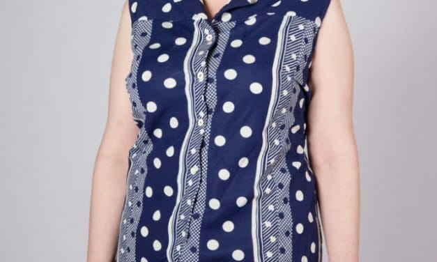 Vintage Carine Couture button up summer shift – curvy, XL, and fun