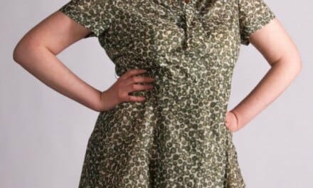 Vintage green polkadot dress – cute curvy 50s XL