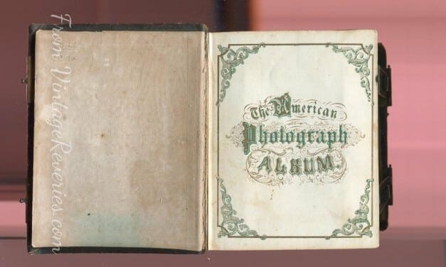 "Civil War Era Photo Album ""The American Photography Album"" – inside 2 pages"