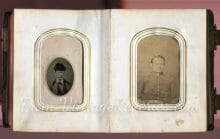 civil war solder photo album