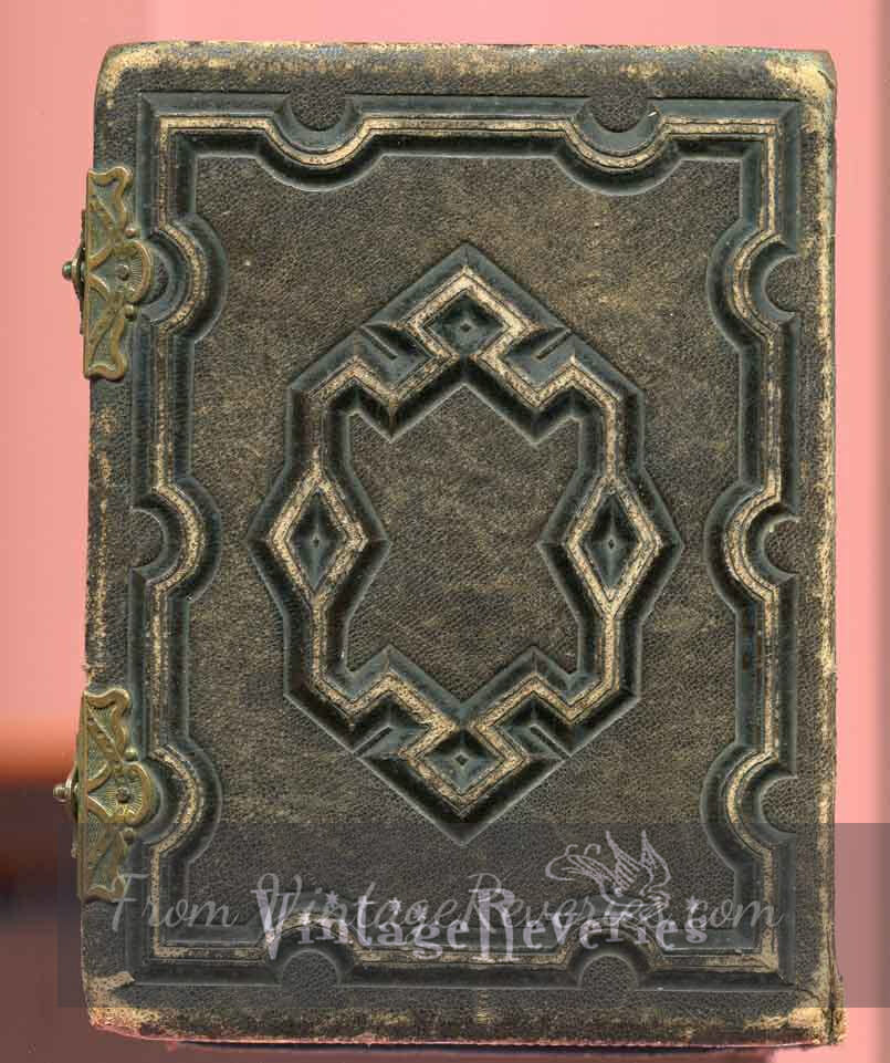 embossed leather photo album