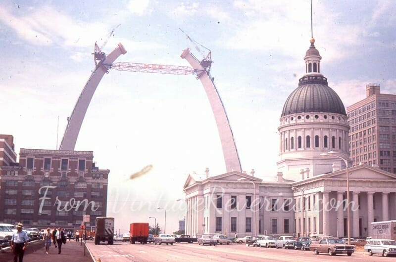 gateway arch construction photos