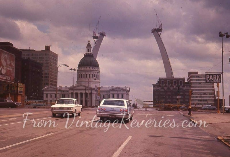construction photos of the gateway arch st louis