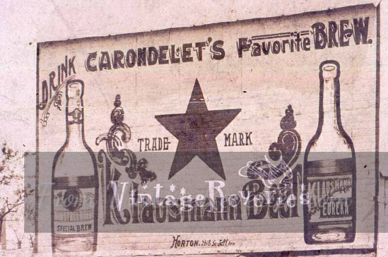 old beer advertisement