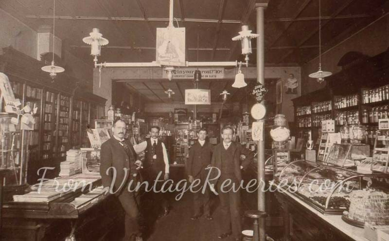 early 1900s pharmacist shop
