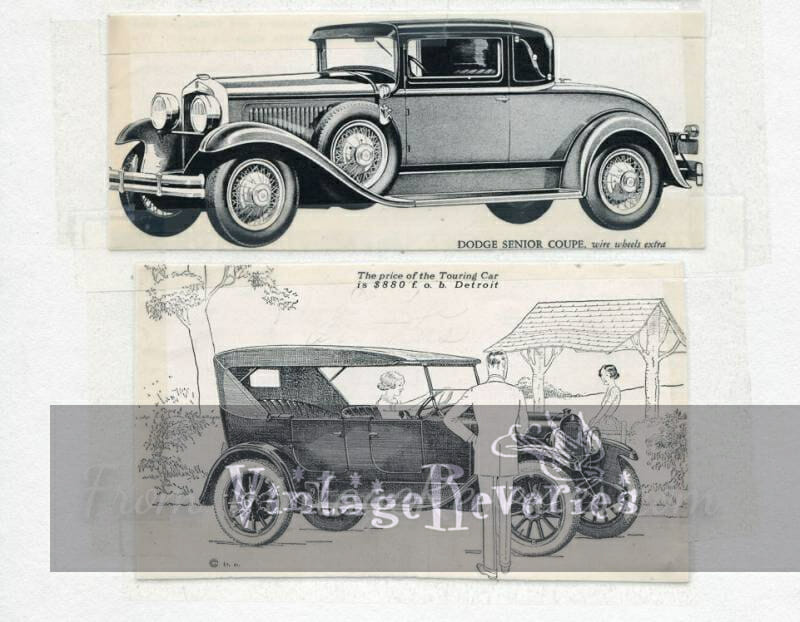 1920s dodge car ads