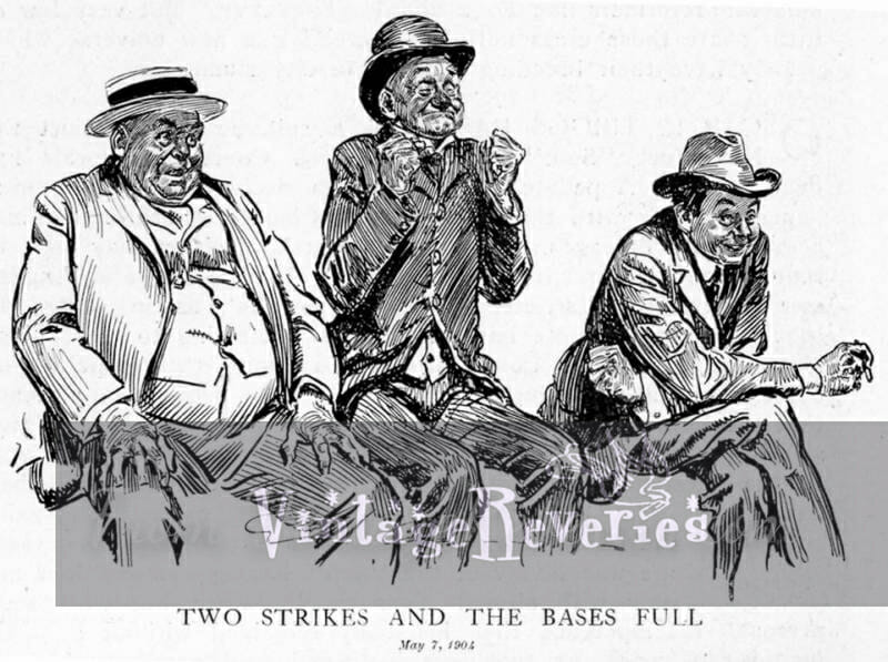 men watching baseball cartoon