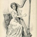 turn of the century harpist gibson girl