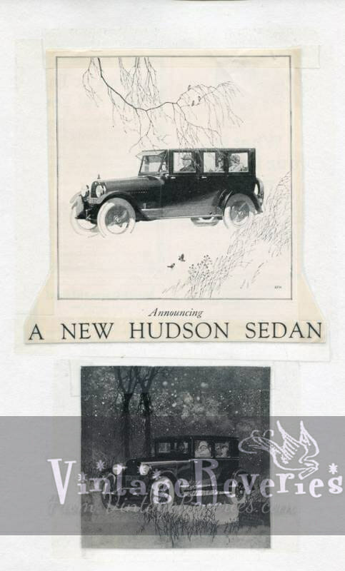 Hudson sedan advertisement