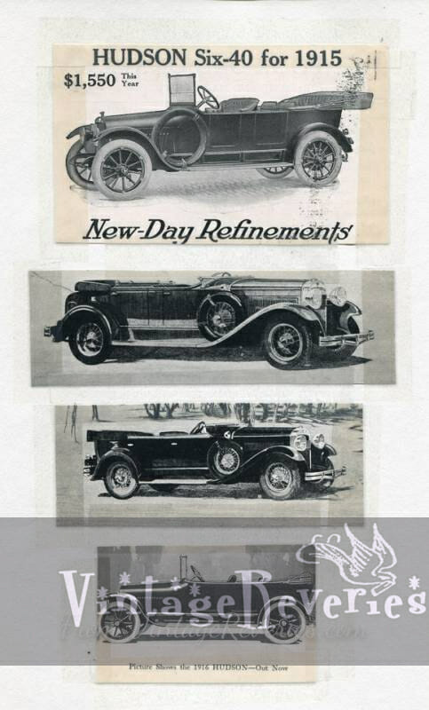 Hudson car advertisement