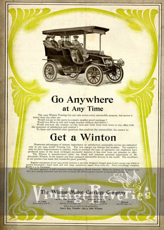 1904 Winton Motors ad