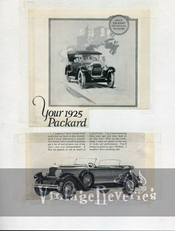 1920s Packard Auto Ads