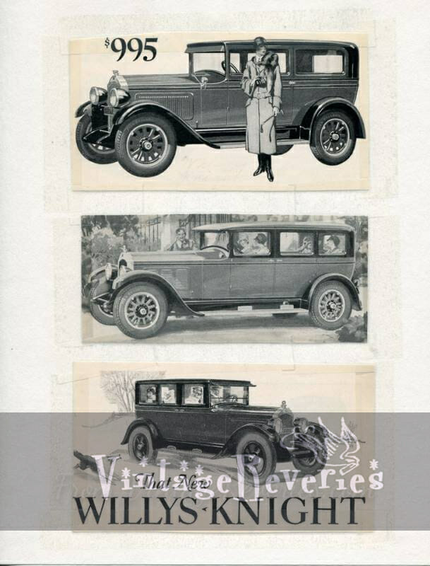 willys knight car ad