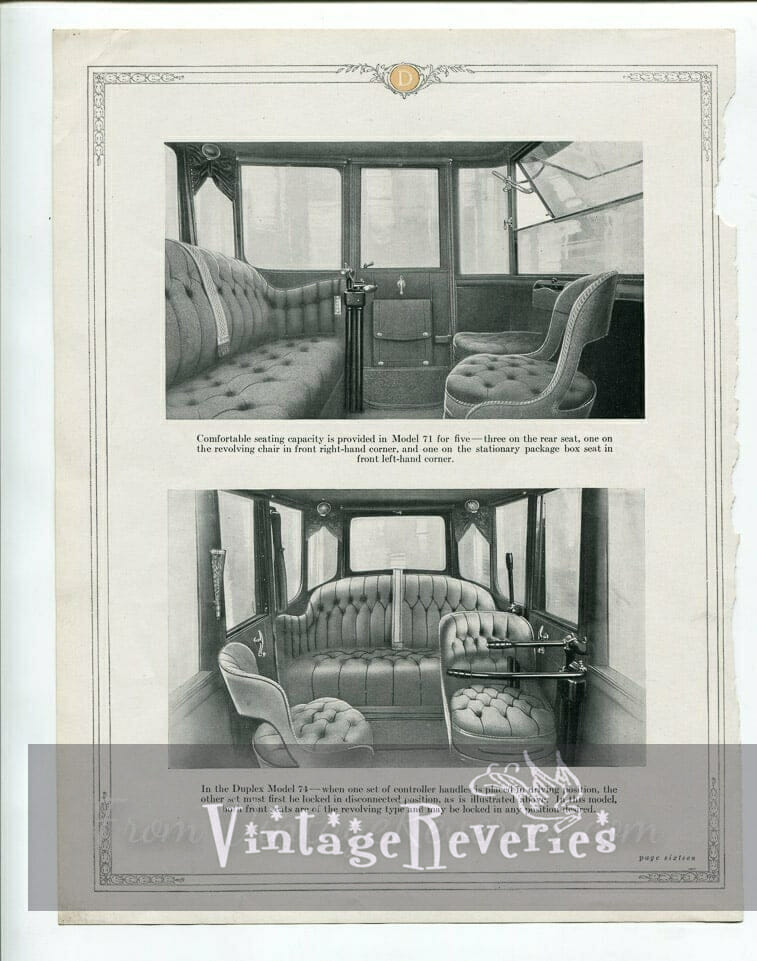 Edwardian era car interior