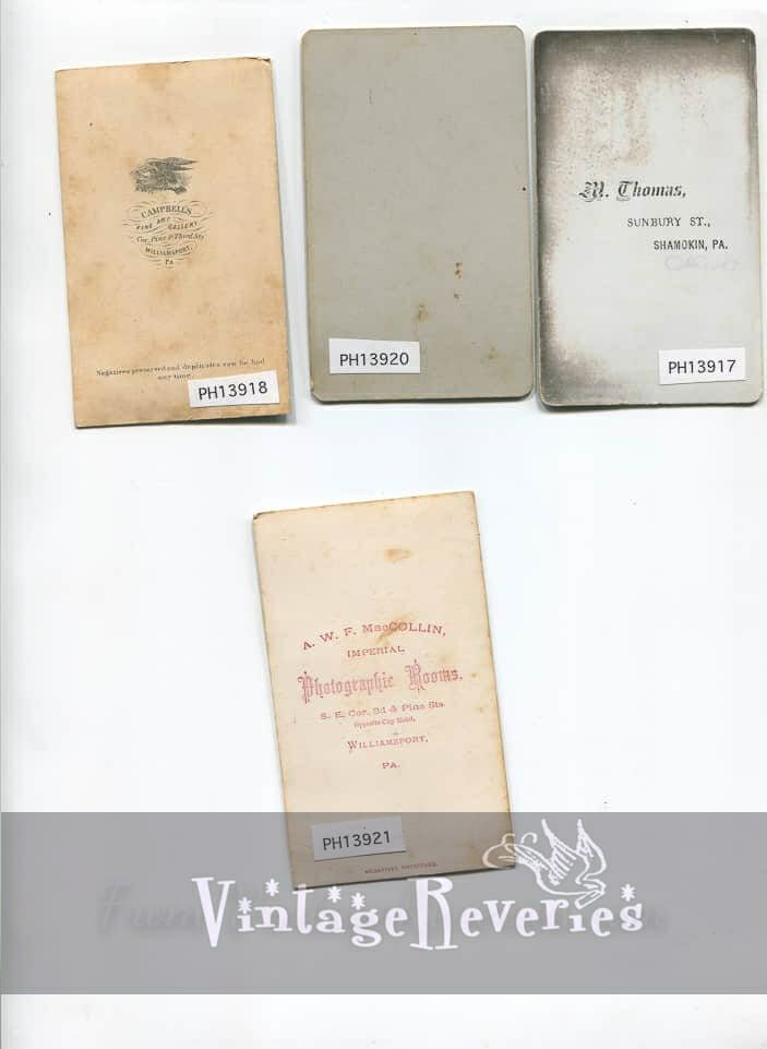 small cabinet card backs