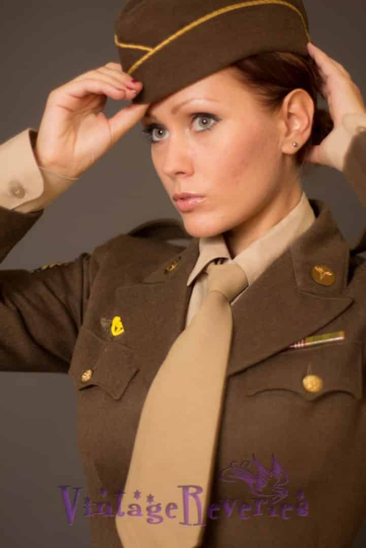 WWII WAC Uniform portrait
