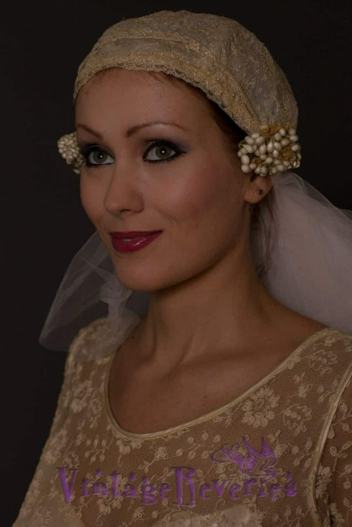 happy 1920s bride