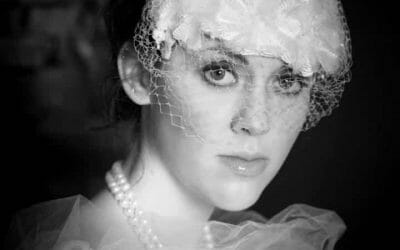 Vintage inspired bridal headshots