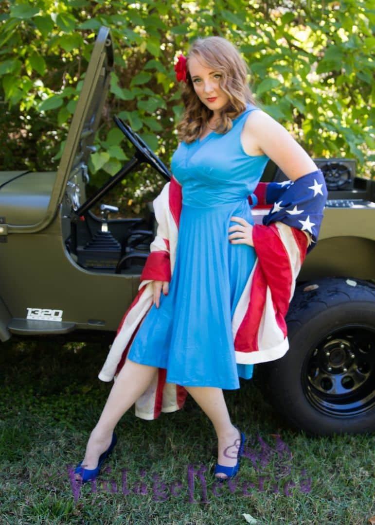 pinup jeep model