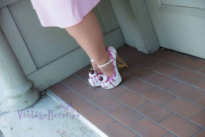 pink ice cream cone high heels