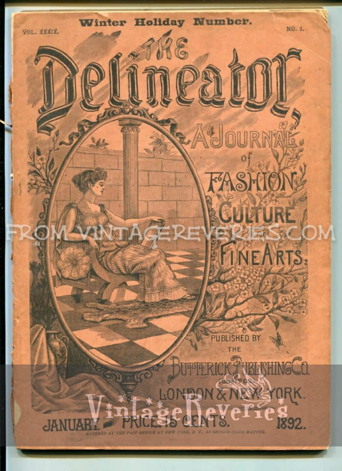 1892 Delineator Fashion Culture Fine Arts Magazine