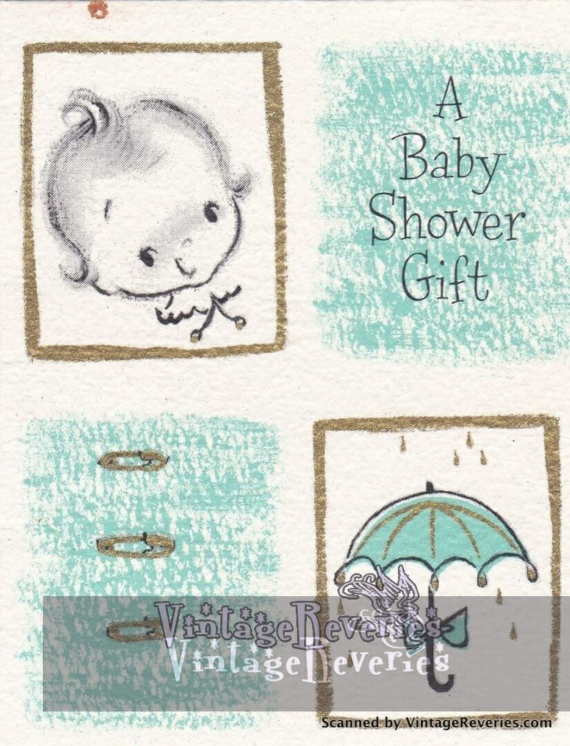 early 1960s new baby and baby shower greeting cards