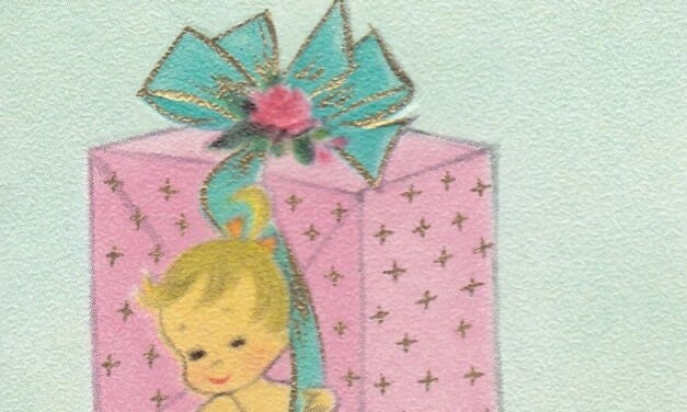 Cute Vintage Baby Shower Cards from 1962