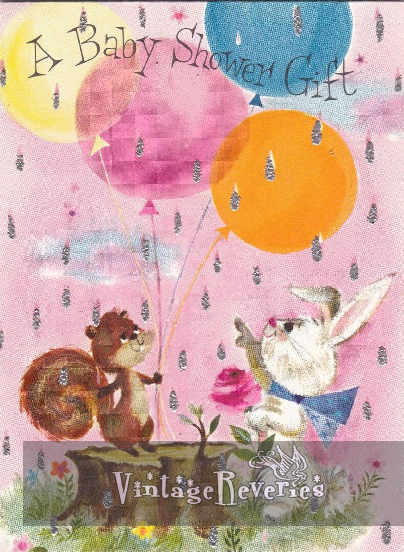 illustrated baby shower card