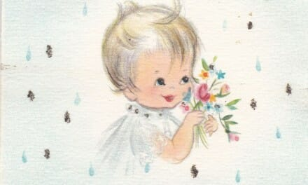 Vintage baby shower card scans