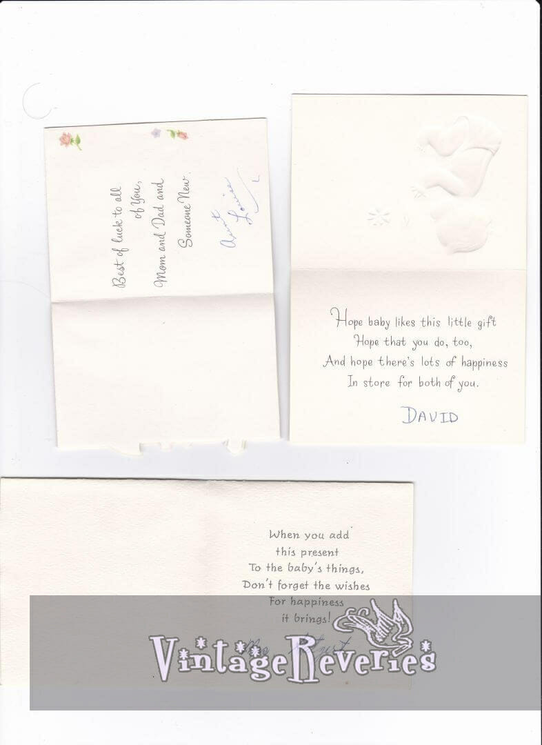 1960s baby shower card messages and notes