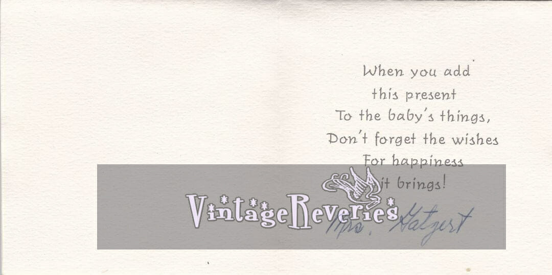 baby shower rhymes from the 60s