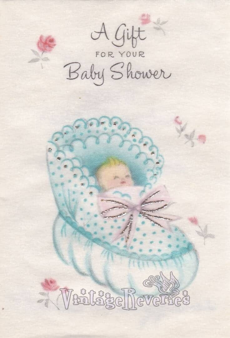 cute illustrated baby shower card